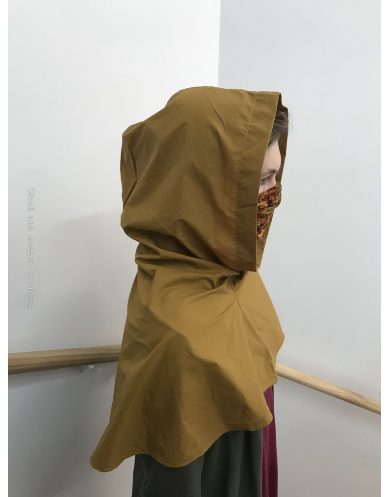 Cloak and Dagger Creations H231 - Golden Brown Water Resistant Easy Care Hooded Cowl