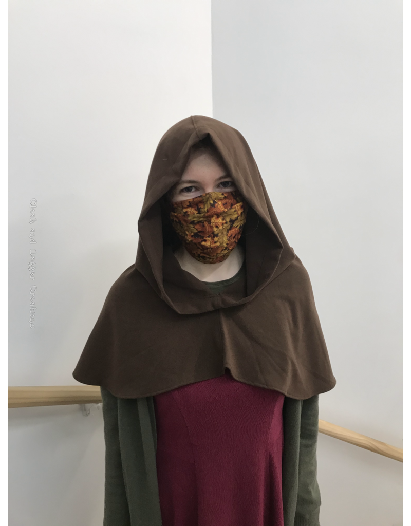 Cloak and Dagger Creations H234 - Hood in Brown Rayon, Mediumweight, Easy Care