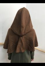 Cloak and Dagger Creations H238 -Hood in Brown 100% Wool Crepe, Mediumweight
