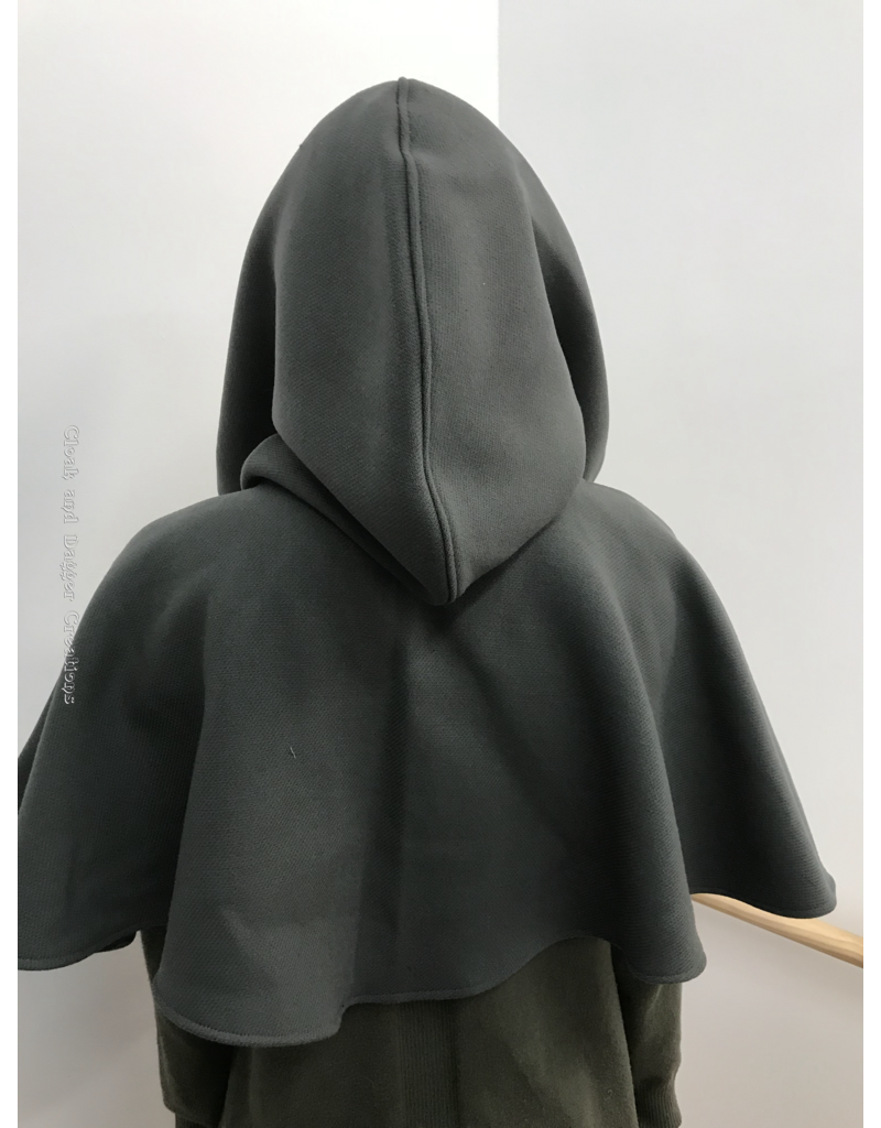 Cloak and Dagger Creations H235 - Wide Neck Hood in Battleship Grey, Heavyweight