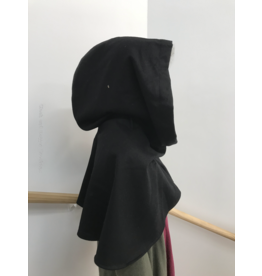 Cloak and Dagger Creations H240 - Hood in Black 100% Wool, Mediumweight