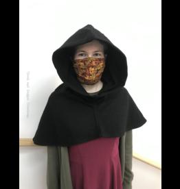 Cloak and Dagger Creations H241 -  Hood in Black 100% Wool, Mediumweight