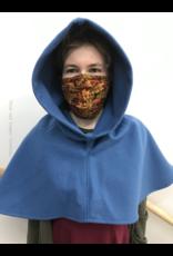 Cloak and Dagger Creations H242 - Hood in Azure Blue Wool Blend, Heavyweight