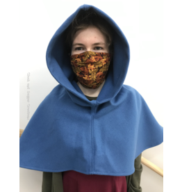 Cloak and Dagger Creations H242 - Hood in Azure Blue Wool Blend, Heavyweight