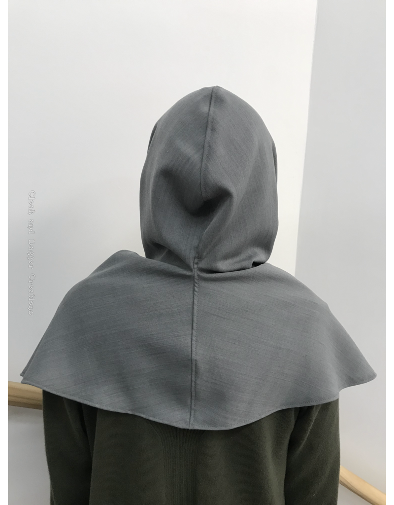 Cloak and Dagger Creations H245 - Hood in Silver-Grey, Summerweight, Washable