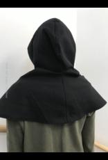 Cloak and Dagger Creations H247 - Hood in Ink Black Wool Blend, Mediumweight, Washable