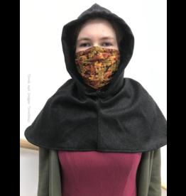 Cloak and Dagger Creations H252 -Easy Care Black Wool Hood