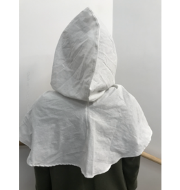 Cloak and Dagger Creations H253 - Easy Care White Cotton Summer Hooded Cowl
