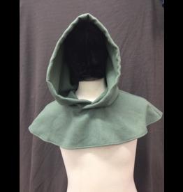 Cloak and Dagger Creations H254 - Sea Foam Green Woolen Hooded Cowl