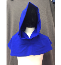Cloak and Dagger Creations H258 - Hood in Blue 100% wool, Lightweight