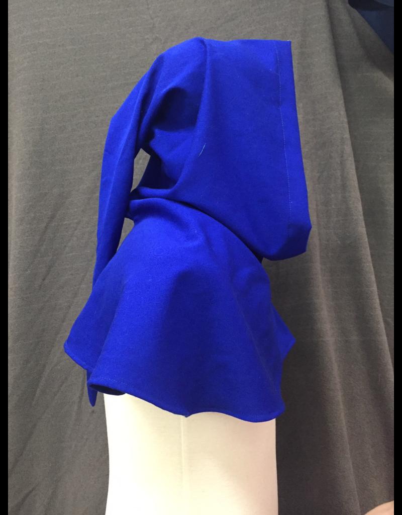 Cloak and Dagger Creations H258 - Hood in Blue 100% wool, Lightweight