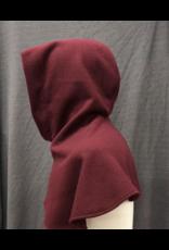 Cloak and Dagger Creations H261- Hood in Burgundy Red Wool Blend, Winterweight