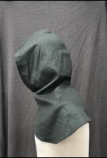 Cloak and Dagger Creations H261- Hood in Grey-Green Wool Blend, Light-Weight