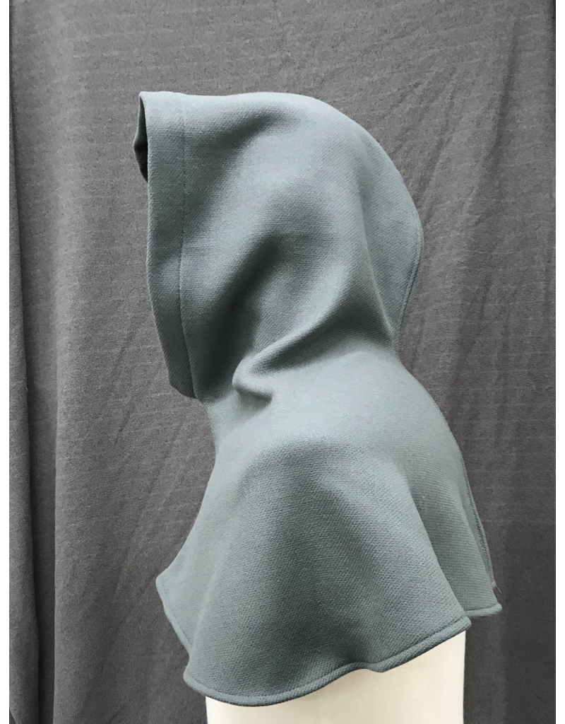 Cloak and Dagger Creations H263- Hood in Grey Wool Blend, Heavyweight
