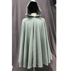 Cloak and Dagger Creations 4226 - Sea Foam Green Cloak, Wool Blend, Matching MicrofiberHood lining, Pewter vale-type clasp