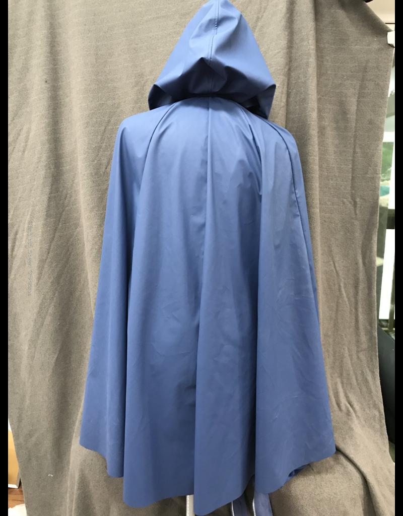 Cloak and Dagger Creations 4231 - Blue Water Resistant Shaped Shoulder Cloak, Unlined Hood