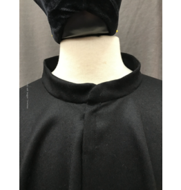 Cloak and Dagger Creations 4237 -  Elegant Black Wool Full Circle Collared Cloak