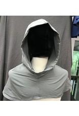 Cloak and Dagger Creations H267- Hood in Grey-Green Wool Blend, Lightweight