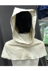 Cloak and Dagger Creations H225- Pointed Hoods in White&Tan 100% Linen, summerweight