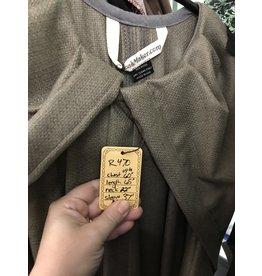 Cloak and Dagger Creations R470 - XL Seagrass Green Silken Wool Jedi Robe