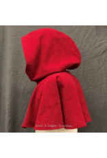 Cloak and Dagger Creations 4246 - Red Easy Care Wool Short Full Circle Cloak w/Pockets, Pewter Triple Medallion Clasp