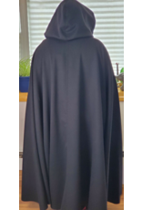 Cloak and Dagger Creations 4221 - Black Cloak Lime Green Hood Lining, Pewter Clasp
