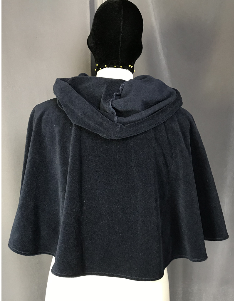 Cloak and Dagger Creations 4044 - Navy Blue Windbloc Short Cloak, Pewter Vale Clasp