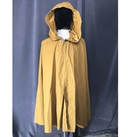 Cloak and Dagger Creations 4085 - Water Repellent Shaped Shoulder Cloak, Gold Hood Lining, Pewter Vale Clasp