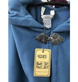Cloak and Dagger Creations 4285 - Washable Cloak in Spruce Blue Fleece, Triple Medallion Clasp