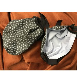 Cloak and Dagger Creations 3 Layer Pleated Face Mask Moon & Stars w/Black Elastic Ties