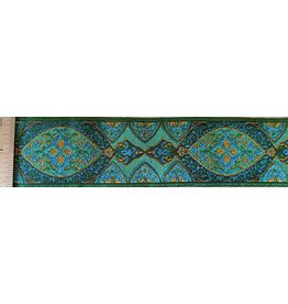 Cloak and Dagger Creations Medallion Trim - Green/Blue/Orange on Green