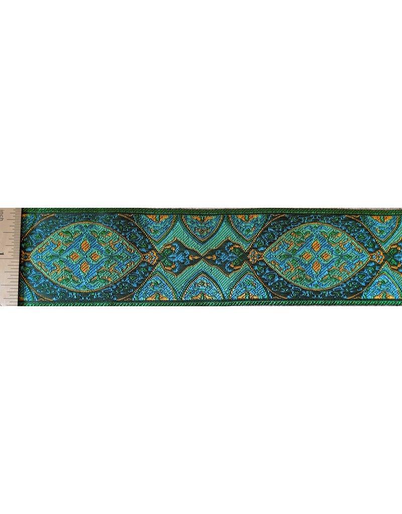 Cloak and Dagger Creations Medallion Trim - Green/Blue/Orange on Green