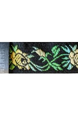 Cloak and Dagger Creations Tapestry Rose Trim - Yellow and Green on Black
