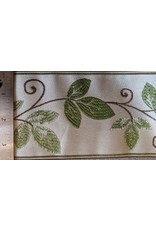 Cloak and Dagger Creations Vines and Curls Trim - Greens and Brown on Ivory