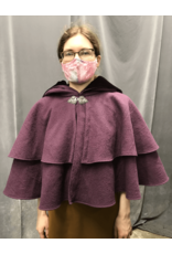 Cloak and Dagger Creations 4257 - Cloak in Rich Plum Purple 100% Wool with Mantle