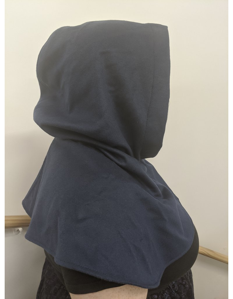Cloak and Dagger Creations H275 - Hooded Cowl in Blue Wool Blend
