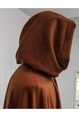 Cloak and Dagger Creations 4290 - Full Circle Cloak in Burnt Orange Wool Blend w/Green Hood Lining
