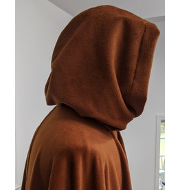 Cloak and Dagger Creations 4290 - Full Circle Cloak in Burnt Orange Wool Blend w/Green Hood Lining