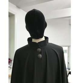 Cloak and Dagger Creations 4293 - Black Full Circle Cloak w/Collar & Buttons