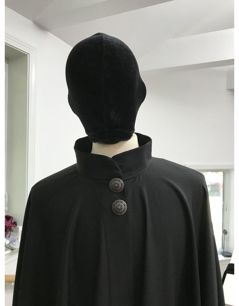 Cloak and Dagger Creations 4293 - Black Full Circle Cloak w/Collar & Buttons