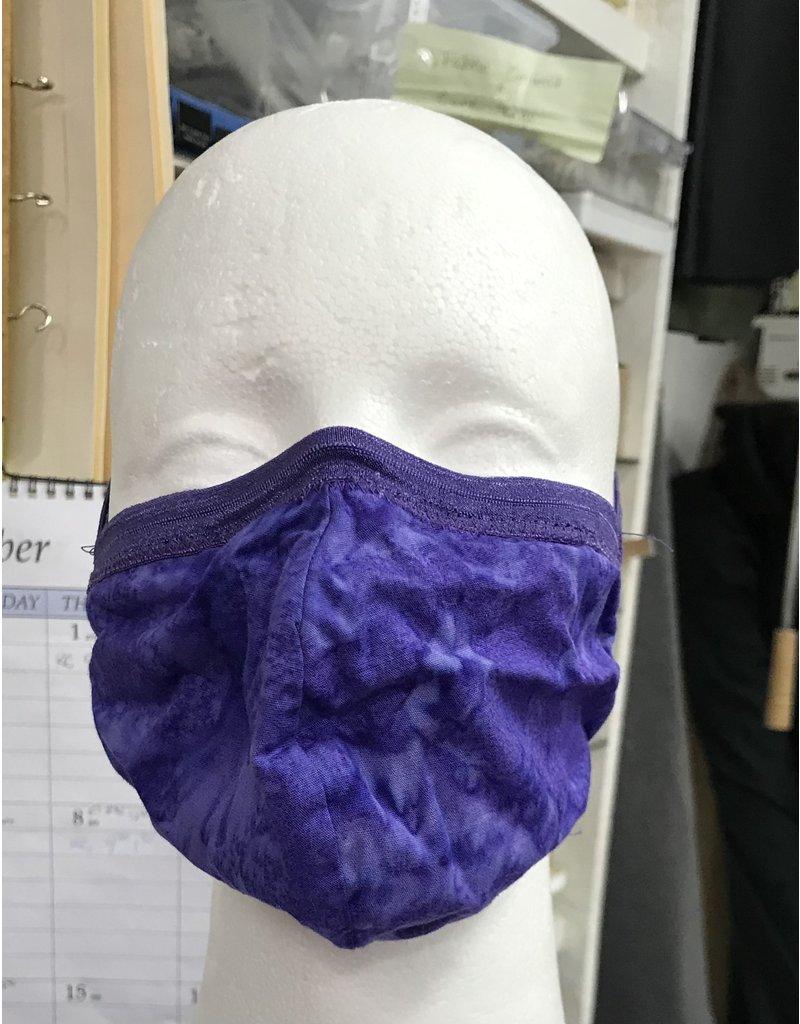 Cloak and Dagger Creations 3 Layer Dart Face Mask, Small, Purple Salt Dye w/Purple Elastic