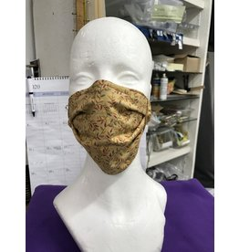 Cloak and Dagger Creations 3 Layer Face Mask - Autumn Vines - Cotton & Silk