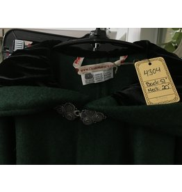 Cloak and Dagger Creations 4304 - Green Wool Blend Full Circle Cloak, Black Velvet Hood Lining, Pewter Clasp