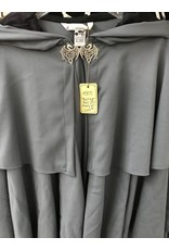 Cloak and Dagger Creations 4305 - Grey Easy Care Cloak w/Double Mantle, Dragon Clasp