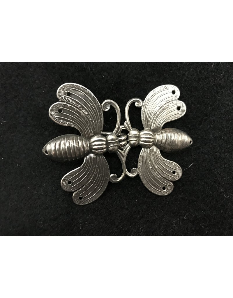 Cloak and Dagger Creations Bees Cloak Clasp - Antique Silver Tone Plating