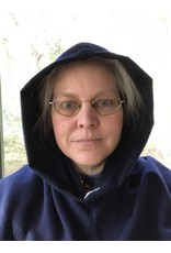 Cloak and Dagger Creations H273 - Hooded Cowl in Washable Deep Blue Brushed Poly