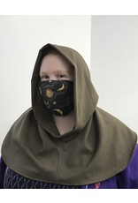 Cloak and Dagger Creations H277 - Hooded Cowl in Washable Beaver Brown Wool
