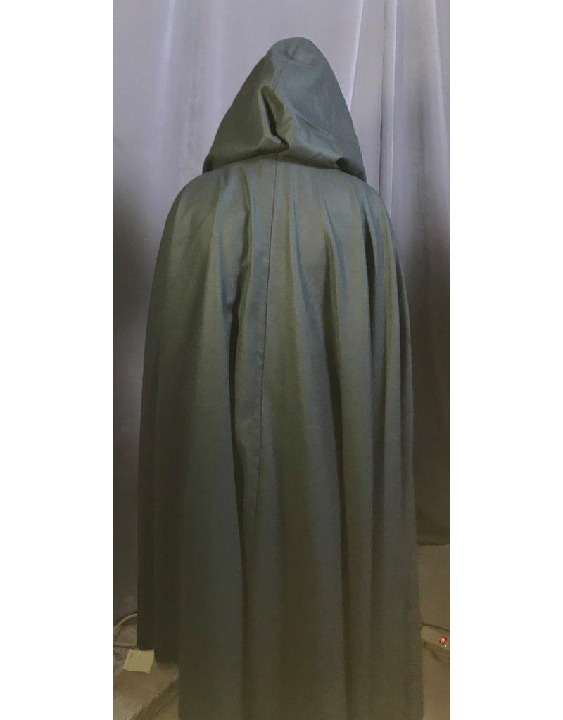 Cloak and Dagger Creations 4259 - Dark Green Wool Full Circle Cloak, Black Hood Lining, Pewter Vale Clasp