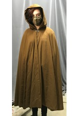 Cloak and Dagger Creations 4316 - Washable Golden Brown Full Circle Cloak w/Green Hood Lining, Pewter Clasp