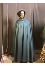 Cloak and Dagger Creations 4324 - Teal Blue Thermalpro  Fleece Water Resistant Full Circle Cloak, Pewter Medallion Clasp